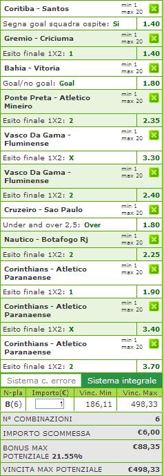 sistemi integrali campionato brasiliano