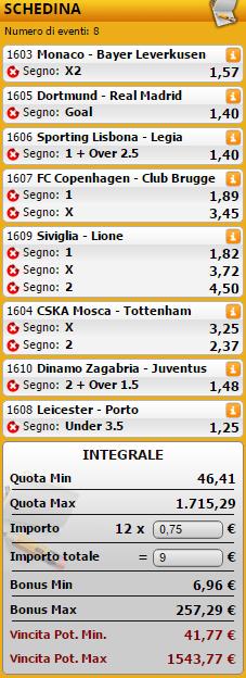 sistemi integrali champions league