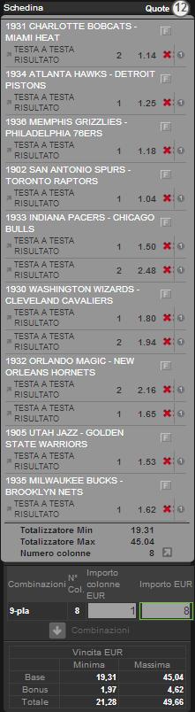 sistema integrale NBA 27 dicembre 2012