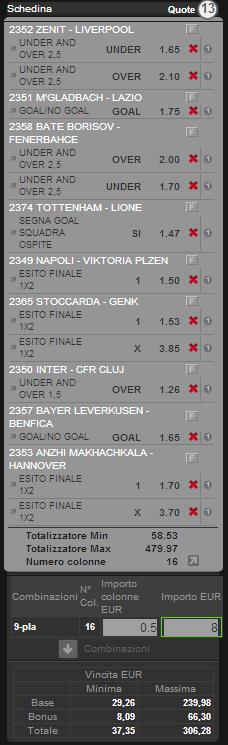 sistema integrale o matematico europa league 14 febbraio 2013