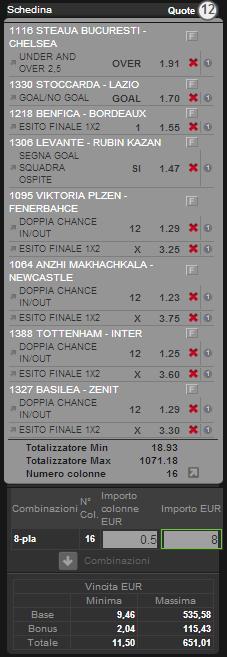 sistema integrale o matematico europa league 7 marzo 2013