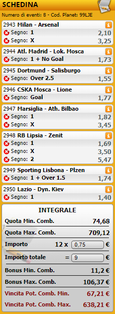 sistemi integrali europa league