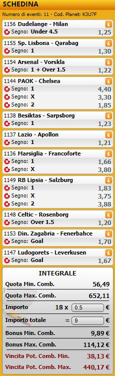 sistemi integrali europa league