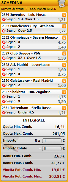 sistemi integrali champions league